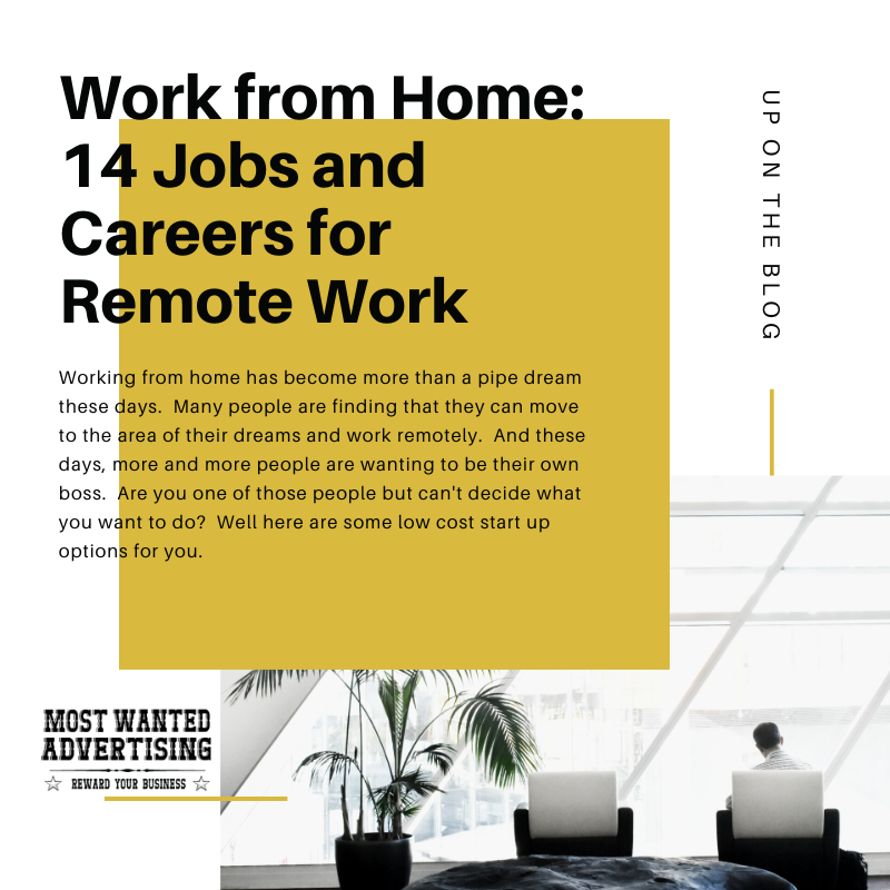 Work from Home: 14 Jobs and Careers for Remote Work